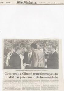 Hércules Goes e o ex-Presidente Clinton