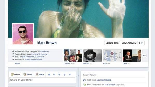 Timeline: novo recurso muda a aparência da página de perfil no Facebook (Reprodução)