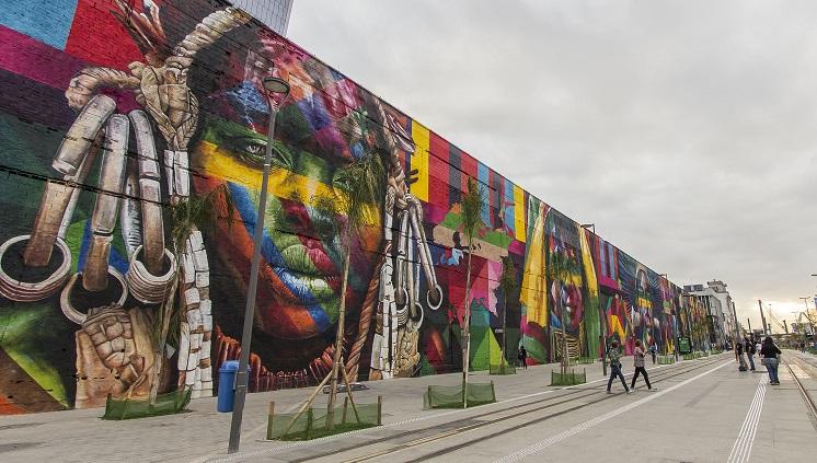 """Mural """"Etnias"""" no Rio de Janeiro (RJ). Foto: Diego Campos"""