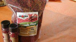 Pimenta rosa é o fruto da aroeira. Foto: Verônica Lima/Rio Rural