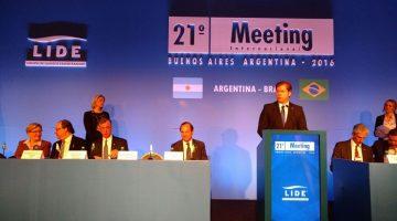 Ministro do Turismo, Marx Beltrão, participa do 21º Meeting Internacional do Grupo Lide, na Argentina. Foto: Darse Júnior